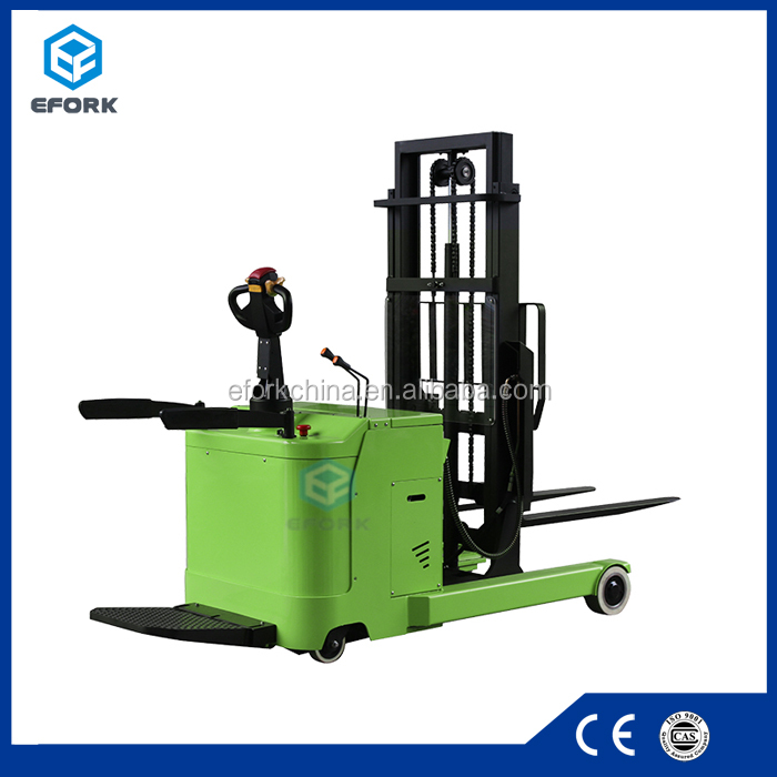 1 ton Battery power reach-fork lift truck electric pallet truck