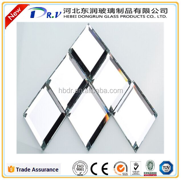 10mm beveled cluster mirror sheet small mirror pieces