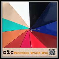 wenzhou wholesale popular colorful shoe leather fabric patent pu leather for shoes for bags