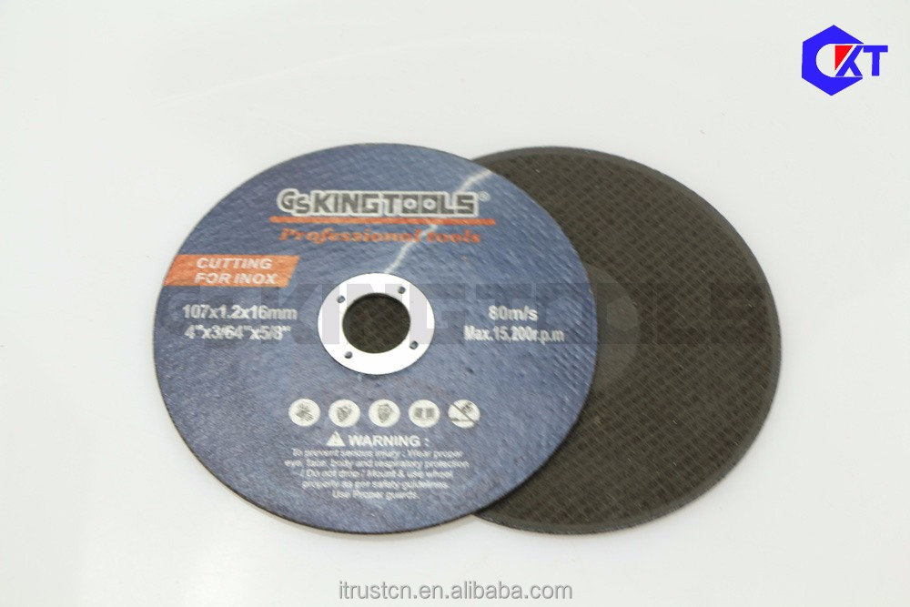 abrasive grinding cutting wheel for inox 107mm