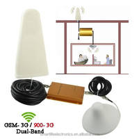 9db log periodic antenna indoor use GSM 900MHZ WCDMA 2100MHZ cellphone double frequency signal booster