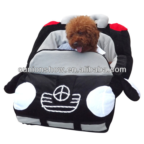 Black cheap cute Car shaped dog bed comfortable pet bed