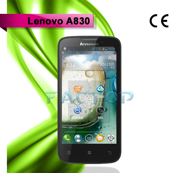 Shenzhen Agent with CE Certificate Lenovo A830 MTK6589 quad core 1.2GHz android 4.2 1GB RAM 4GB ROM phone