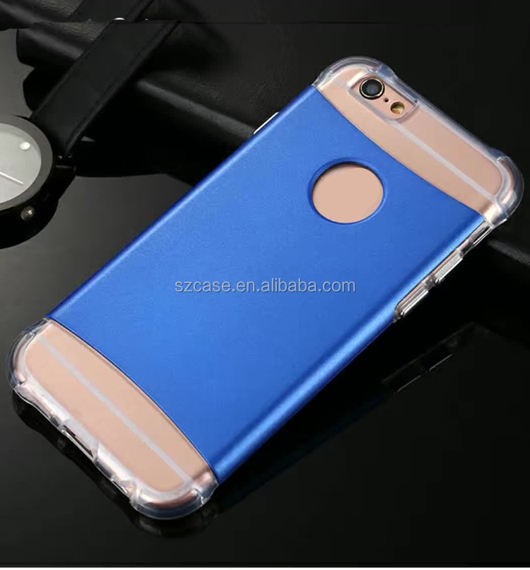 2 in 1 shockproof tpu case for iphone 7,electroplating buttons phone case for iphone 7 plus