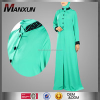Fashion Abayas Online Embellished Stylish Abaya Crepe Fabric Dubai Burqa Muslim Burka Dress For Ladies