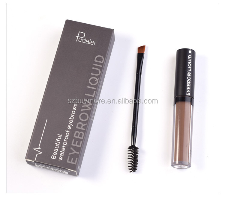 Pudaier 1st Step Eyebrow Gel Waterproof Eyebrow Liquid Perfect Eyebrow Black Brown 4 Colors DHL Free