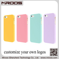 MIROOS hot sales rubber oil soft touch color printed logo case for iphone 6 plus