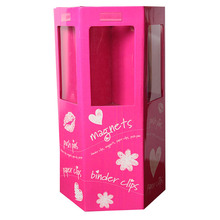 Custom Colorful flowers cardboard dump bin box display,bin boxes cardboard