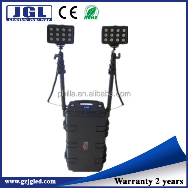 72w Portable Remote area LED work tower lights as searchlights for forest patrolling, coastal patrolling