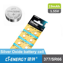 Vinnic silver oxide button cell 377/SR626SW watch battery price