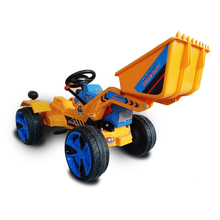 Cheap plastic China toy factory ride on electric kids car / kids excavator