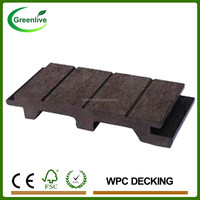Removable Outdoor Interlocking Solid Wood Plastic Flooring