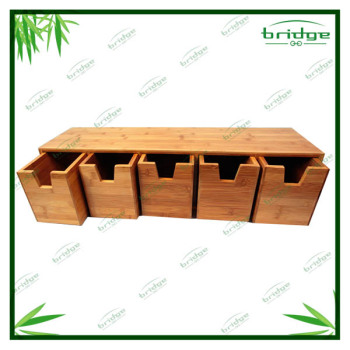 High Quality 5 holder Bamboo Spice Boxes