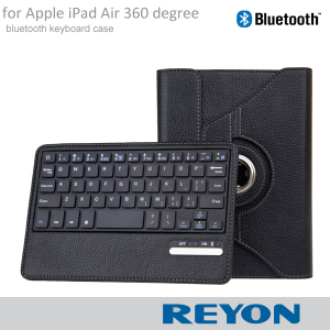 for Apple iPad Air Flip Leather Case With Viewing Stand Feature And detachable Bluetooth Keyboard