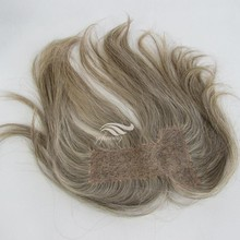 Hot Selling New Product Brazilian Human Swiss Lace Base Grey Hairpieces