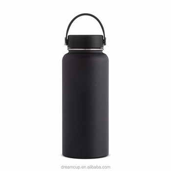 Double Wall Vacuum Insulated Stainless Steel Leak Proof Sports Water Bottle, Wide Mouth with BPA Free Flex Cap