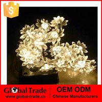 Low Voltage Warm White 20LED Christmas Light Celebration Product Christmas Tree Yard Decoration 2m White Lotus LED Lamp G0070
