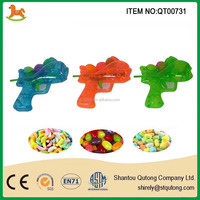 best selling dolphin shooting gun candy oy with jellybean or fruit dextrose candy