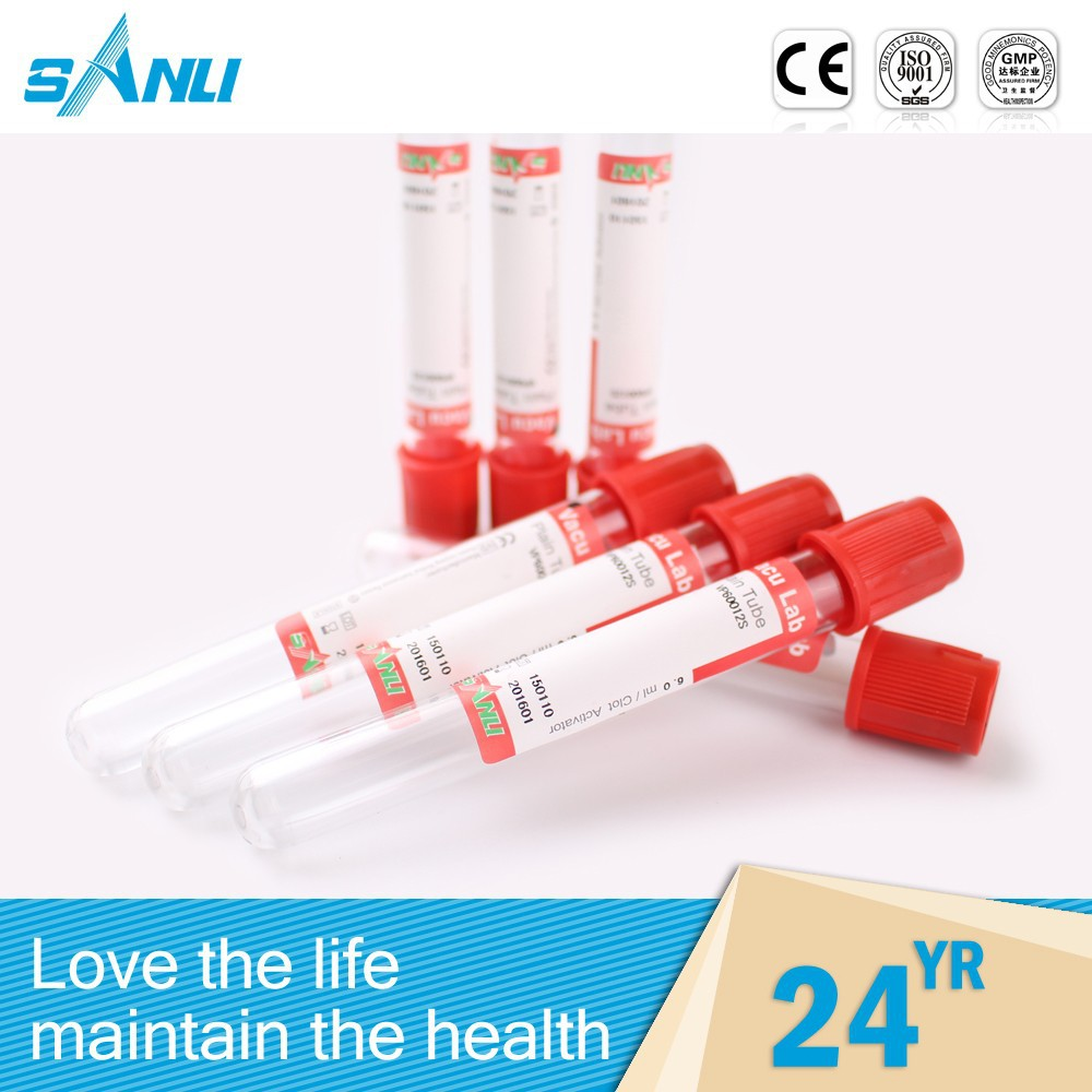 Automatic personalized gel clot activator blood collection tube / vacuum tube with gel