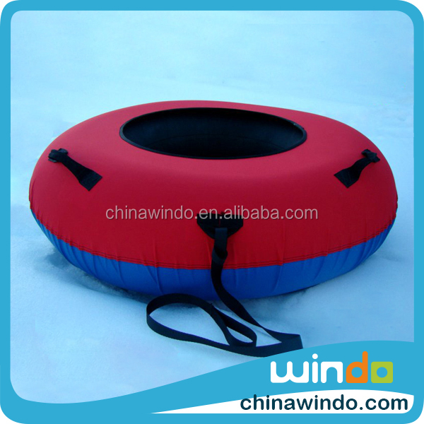 custom heavy duty form inflatable circle snow sledge tire sled tube with cover