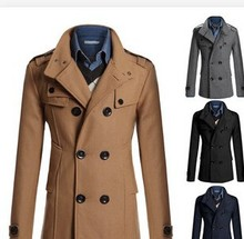 Trendy man double-breasted winter dust coat alibaba express wholesale good quality men coat