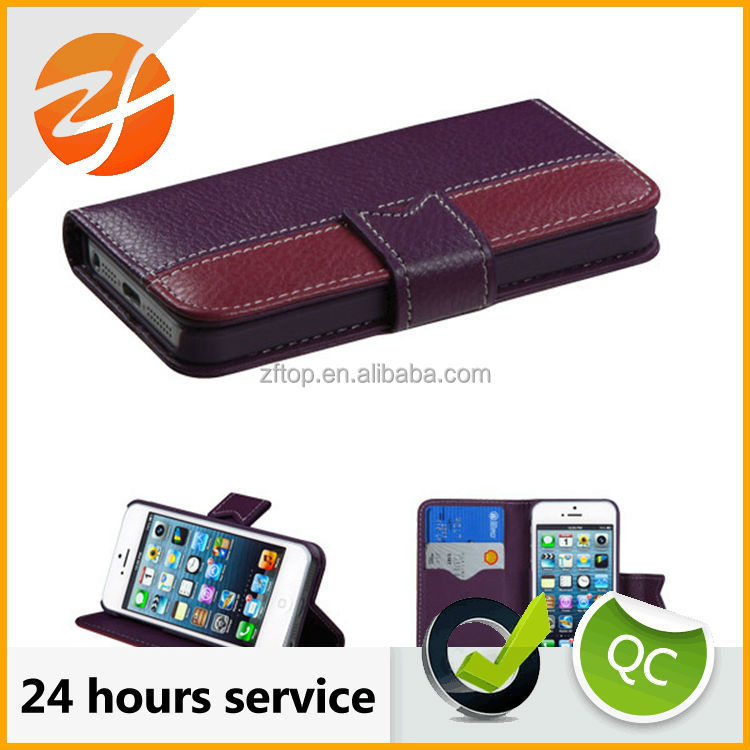 High quality pu leather case for apple iphone 5c,for iphone 5c waterproof shockproof case