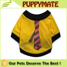 2016 New Wholesale Muti Size Pet Dog Tie T-shirts Dog Clothes