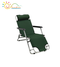 folding travel steel beach lounge chair hot Sell luxury recliner chair