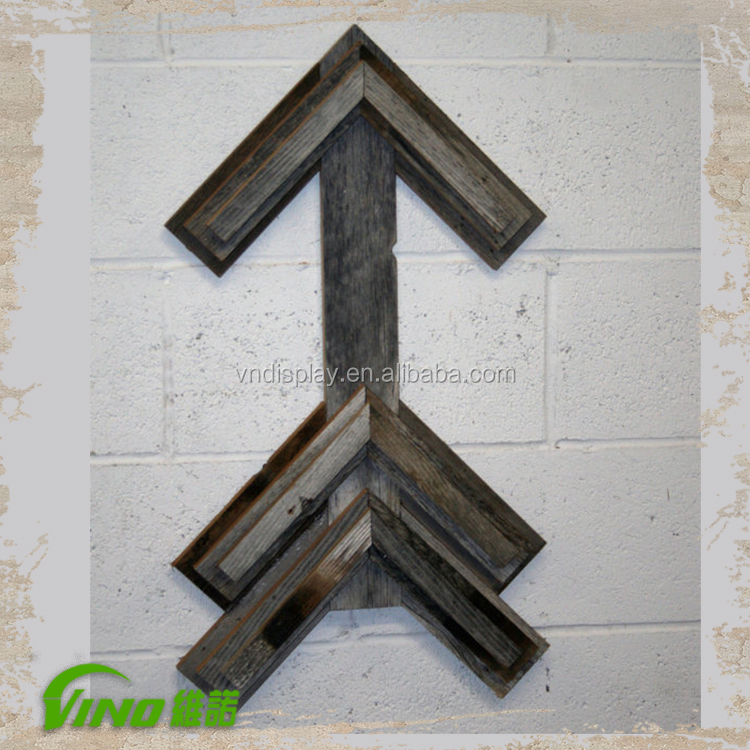 Wood Arrow Wall Hanging , rustic wood display supplier , wholesale rustic home decor