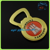 Hamburg feature souvenir keychain bottle opener key ring