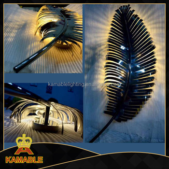 Stailess Steel Modern Feather Shape Wall Light (KAW17-069)