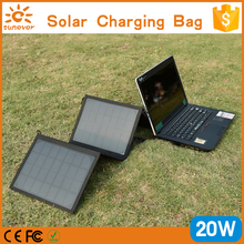 New premium PVC laminated Portable and Folding 20W Solar Charging Station for Laptop and Mobile Phones