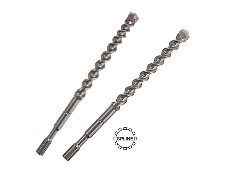 Carbide Single Head Tip Spline Shank Hammer Drill Bit for Concrete Stone Mable Masonry Drilling