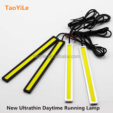 17cm Universal Aluminium Shell Waterproof Led Light cob Auto Daytime Running Light Led Headlight
