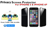 OEM/ODM available anti-peep anti-spy electric privacy glass film screen protector for iphone 6 6 plus