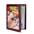 Customized Leather PVC Transparent Menu Holder Food Menu Cover on Hot Sale