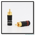 High End Gold Plated Beryllium Copper Audio Cable RCA Plug Speaker RCA Connectors Terminals