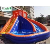 Kids banzai inflatable water slide made of lead free pvc tarpaulin for sale