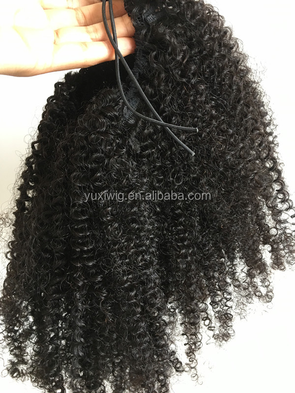 new products 100% virgin hair kinky curly ponytail