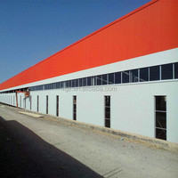 Light Frame Prefabricated Steel Building Industrial Shed