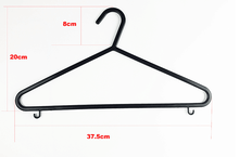 2017 supermarket Plastic Coat Hanger with Trouser & Loop Hooks