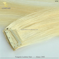 Ali Express Wholesale Top Full Cuticle Remy brazilian 100% indian virgin human clip in hair