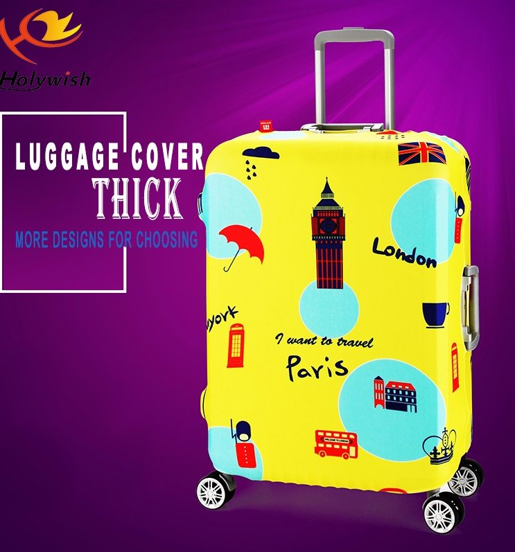 Wholesale Full Color Printing Travel Bag Cover Suitcase Protecting Covers