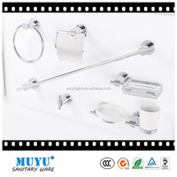 round brass chrome toilet hardware toilet bath accessories , hotel bathroom accessories set,towel rack soap dish