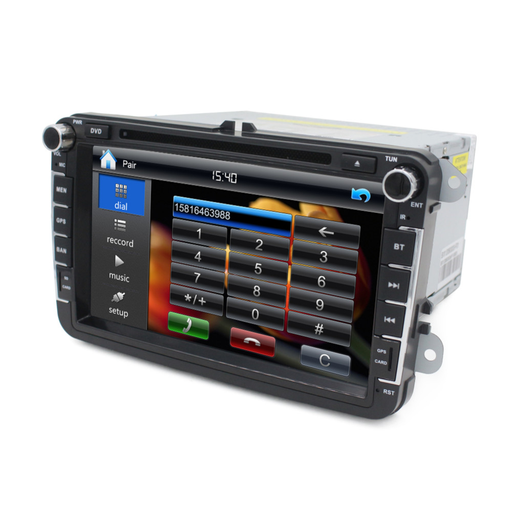 2Din Car DVD Player GPS Audio Stereo GPS System for Volkswagen passat and golf 5 with 8inch Touch Screen