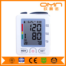 Free Shipping Sphygmomanometer Gauge Specifications for Children and Adult New Wrist Type Watch Blood Pressure Monitor FDA CE
