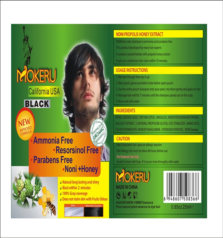 No ammonia no parabens fast magic permanent organic hair color argan oil black hair shampoo