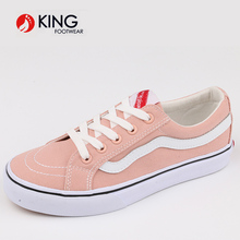 Wholesale 2018 factory student waterproof canvas fabric soft sole girl shoes
