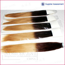 new design High-quality virgin two color hair extension hot sell in nigeria