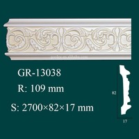 Environmental and Economical Home Interior Decorator PU Coving Cornice Moulds